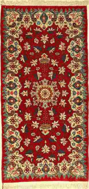 Keschan old rug, Persia, approx. 50 years, wool on