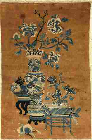 Fine Beijing antique rug, China, 19th century,wool on