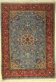 Isfahan fine rug, Persia, approx. 50 years, wool with