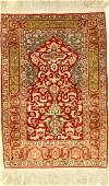 Silk Kaisery rug old, Turkey, approx. 40 years, silk