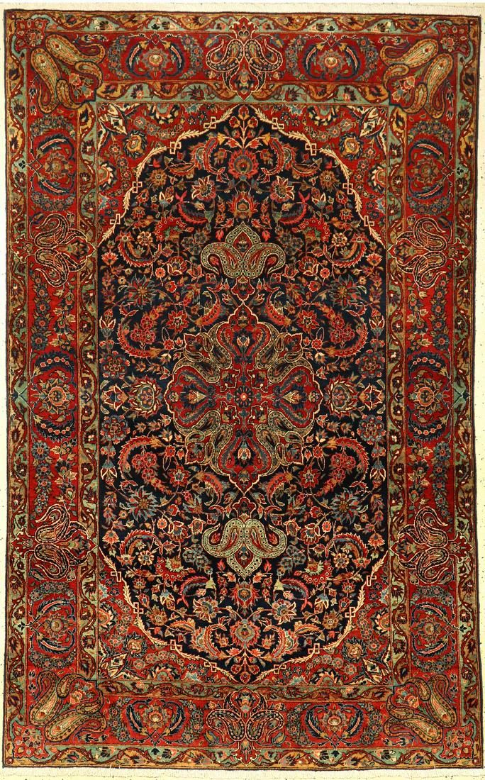 Fine Kashan rug old, Persia, around 1930,wool,approx.