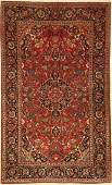 Kashan rug old, Persia, around 1940, wool, approx. 215