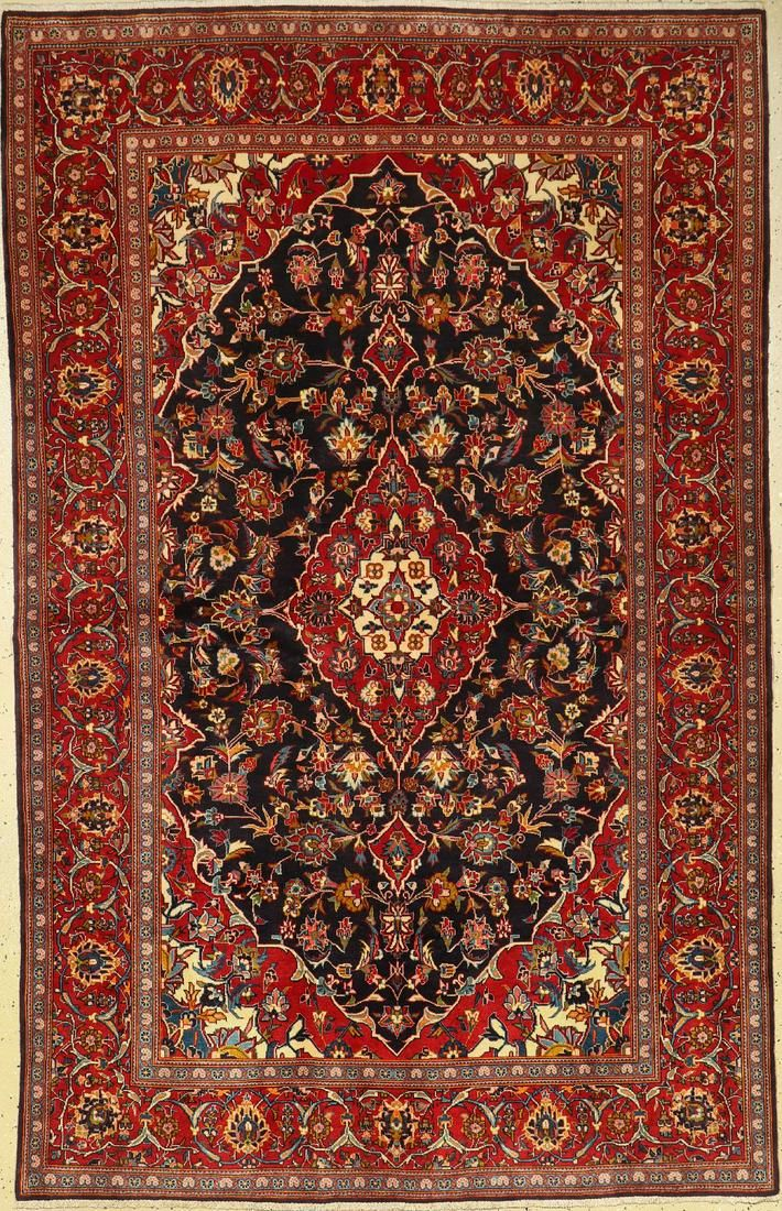 Kashan rug, Persia, approx. 50 years, wool, approx. 221