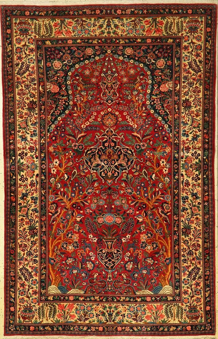 Fine Kashan rug old, Persia, around 1930, wool