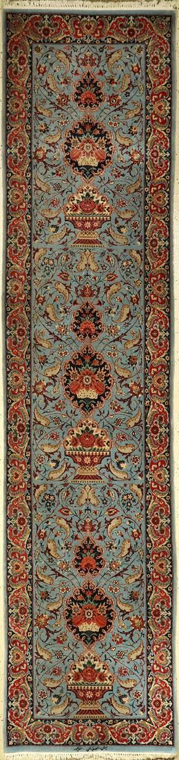 Fine Isfahan runner (Signed), Persia, approx. 30 years