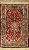 Fine Isfahan rug old, (signed), Persia, around1950,