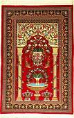 Fine Qum rug, Persia, approx. 30 years, wool,approx.