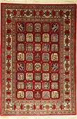Fine Qum rug, Persia, approx. 30 years, wool, approx.