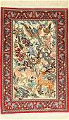 Fine Isfahan rug, Persia, approx. 30 years, wool with