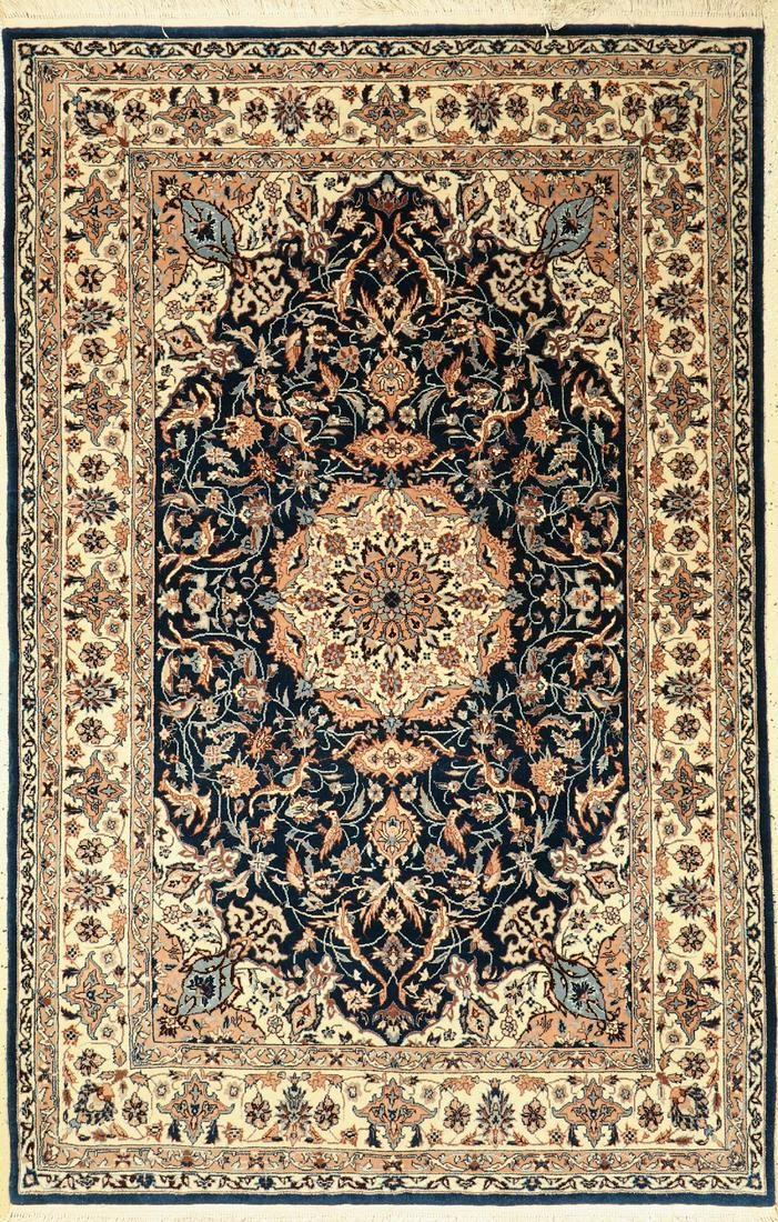 Isfahan rug fine, China, approx. 30 years, wool