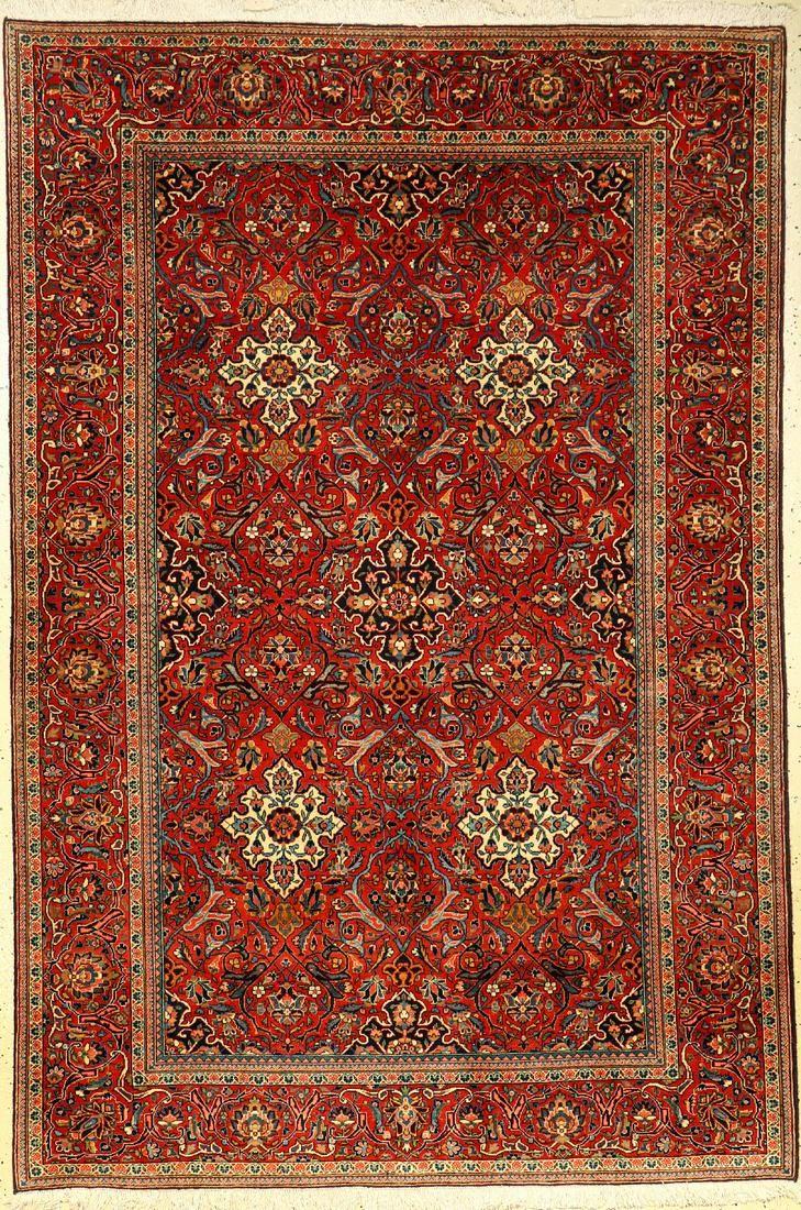 Fine Kashan rug old, Persia, around 1920, wool