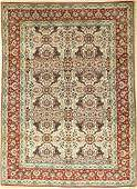 Fine Nain 'Tudeschk' rug old, Persia, around 1930, wool