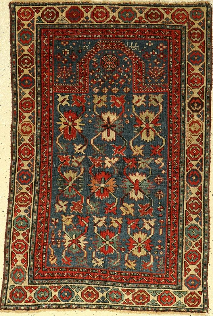 Rare Karabagh 'prayer rug' antique, Caucasus, 19th