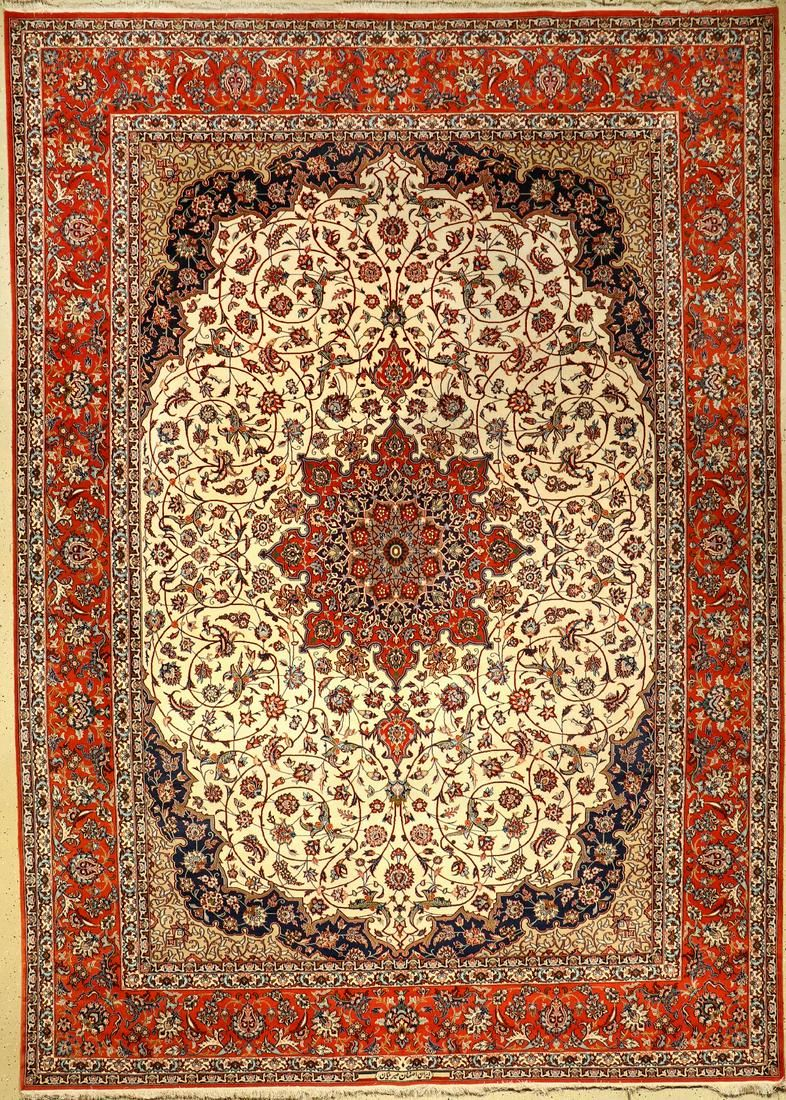 Fine Isfahan (Signed) carpet, Persia, approx. 30 years