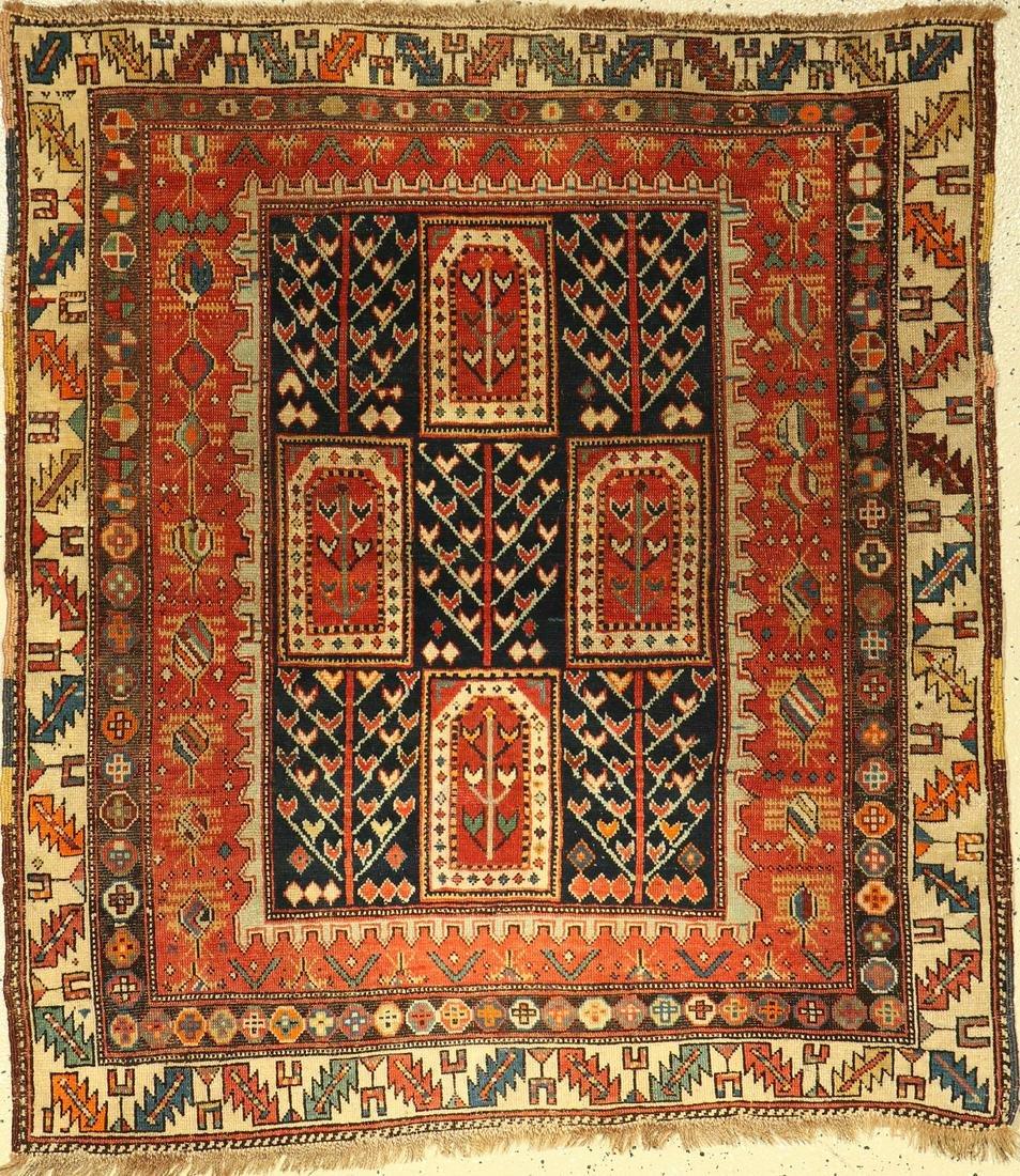 Tachte Schirwan antique rug, Caucasus, around 1890,