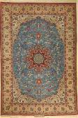 Fine Isfahan old rug signed Persia around 1960