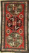 Chondzoresk Kazak antique rug, Caucasus, cloudband