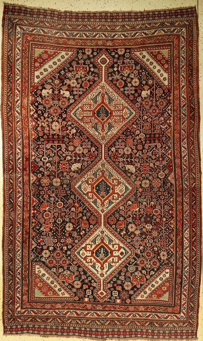 Antique Gashgai rug, Persia, around 1900, woolon wool