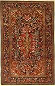 Kashan rug old, Persia, around 1910, wool, approx. 197