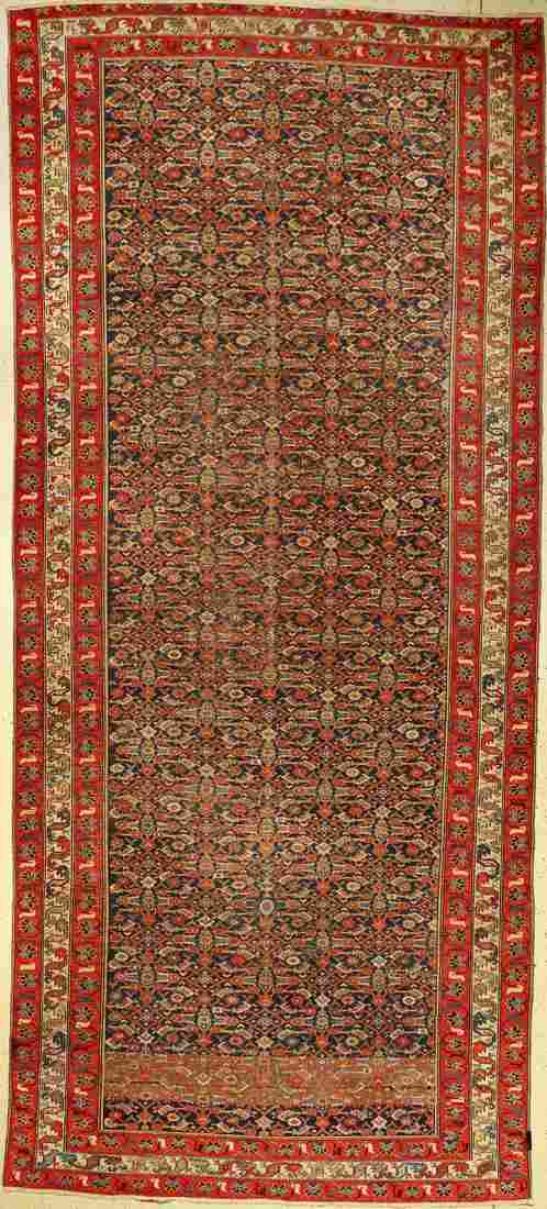 Malayer Kelly carpet antique, Persia, around 1900, wool