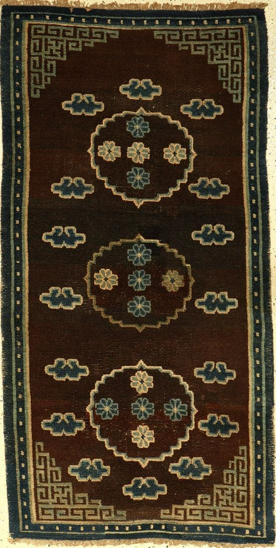 Antique Tibetan Meditation rug, Tibet, 19th century