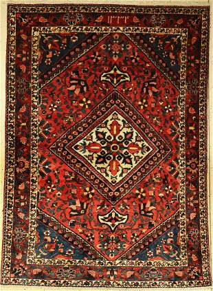 Bakhtiar rug old Persia approx 60 years wool on