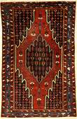 Fine Mazlaghan rug old, Persia, around 1930, wool on