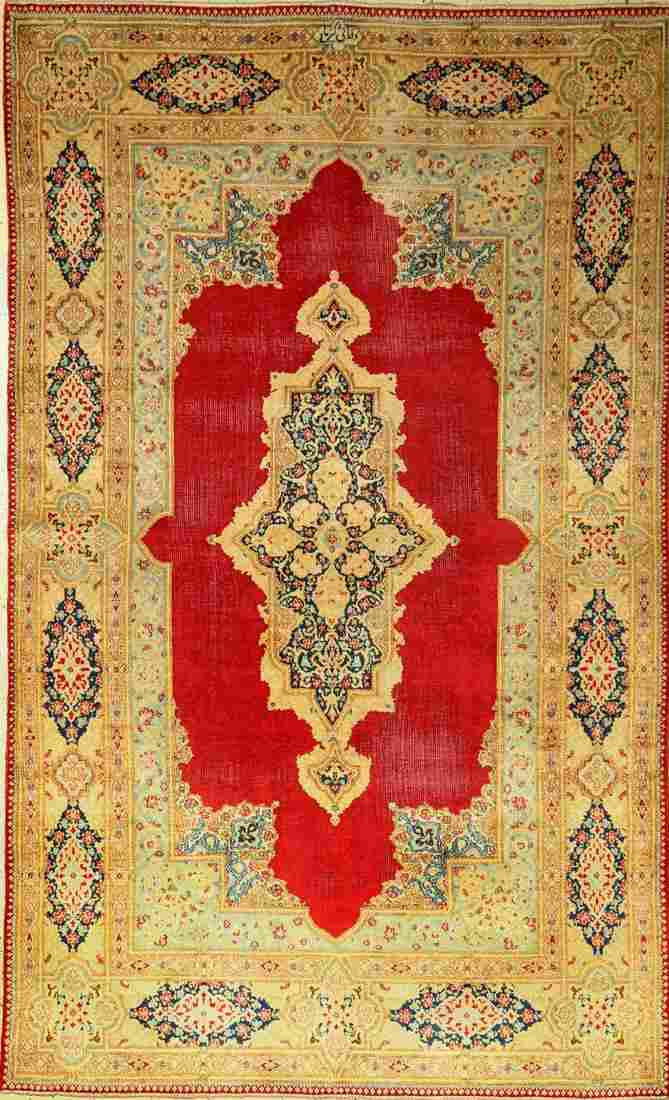Kirman rug old, Persia, approx. 60 years, woolon cotton