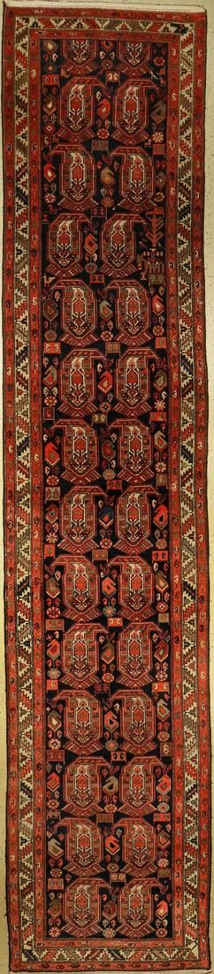 Malayer runner, Persia, around 1930, wool on cotton