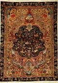 Fine Tabriz rug old (50 RAJ), Persia, approx. 60 years