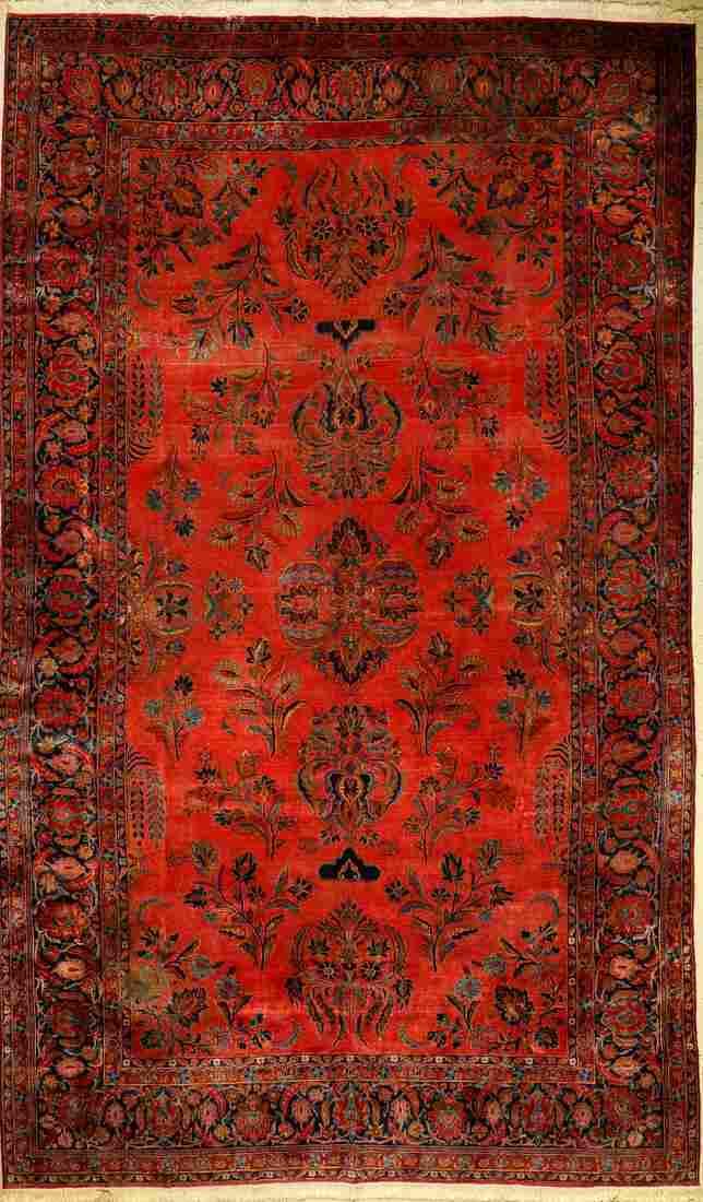 Manchester Kashan carpet antique, Persia, around 1900