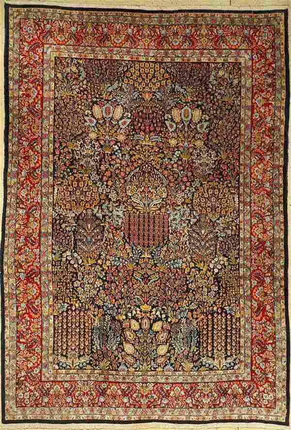 Kirman carpet old, Persia, approx. 40 years, wool on