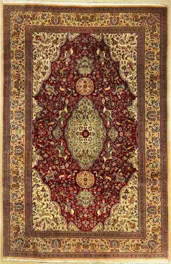 Fine Tabriz Tabatabai carpet old, Persia, approx. 70
