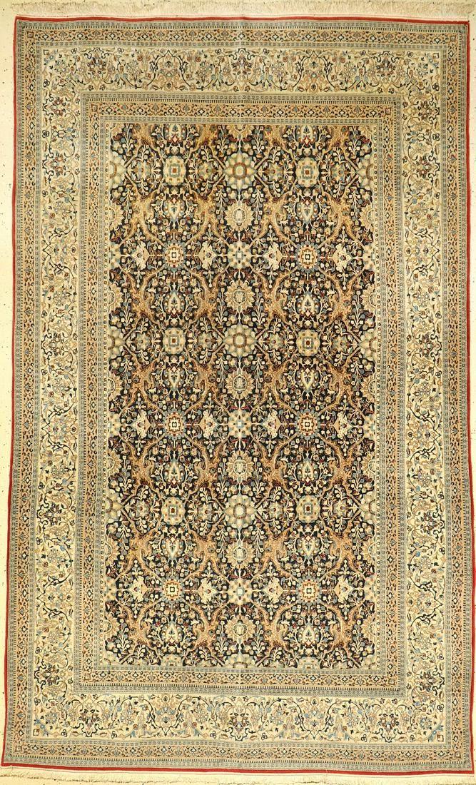 Fine Nain 'Tudeschk' rug old (Part-Silk), Central