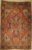 Heriz carpet antique, Persia, around 1900, wool on