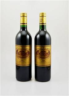 2 bottles of 1999 Chateau Batailley