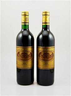 2 bottles of 1998 Chateau Batailley