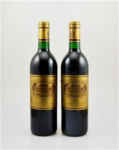 2 bottles of 1990 Chateau Batailley