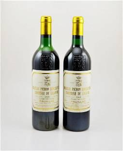 2 bottles of 1988 Chateau Pichon Longueville Comtesse
