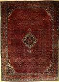 Bidjar old Carpet, Persia, around 1940, wool on cotton