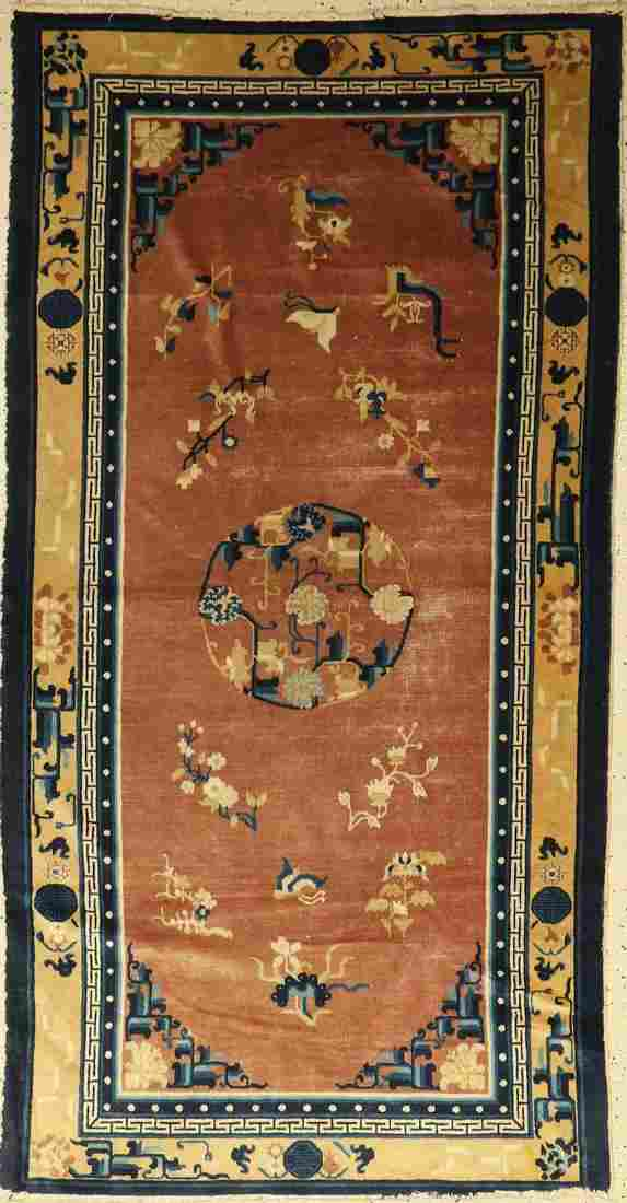 China old Rug, approx. 60 years, wool on cotton
