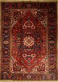 Heriz Carpet, Persia, approx. 50 years, wool on cotton