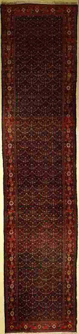 Senneh 'Runner' old, Persia, around 1930, wool on