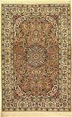 Fine Esfahan Rug, Persia, approx. 30 years, wool on