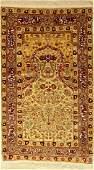 Silk Hereke old Rug, Turkey, around 1950, silk with