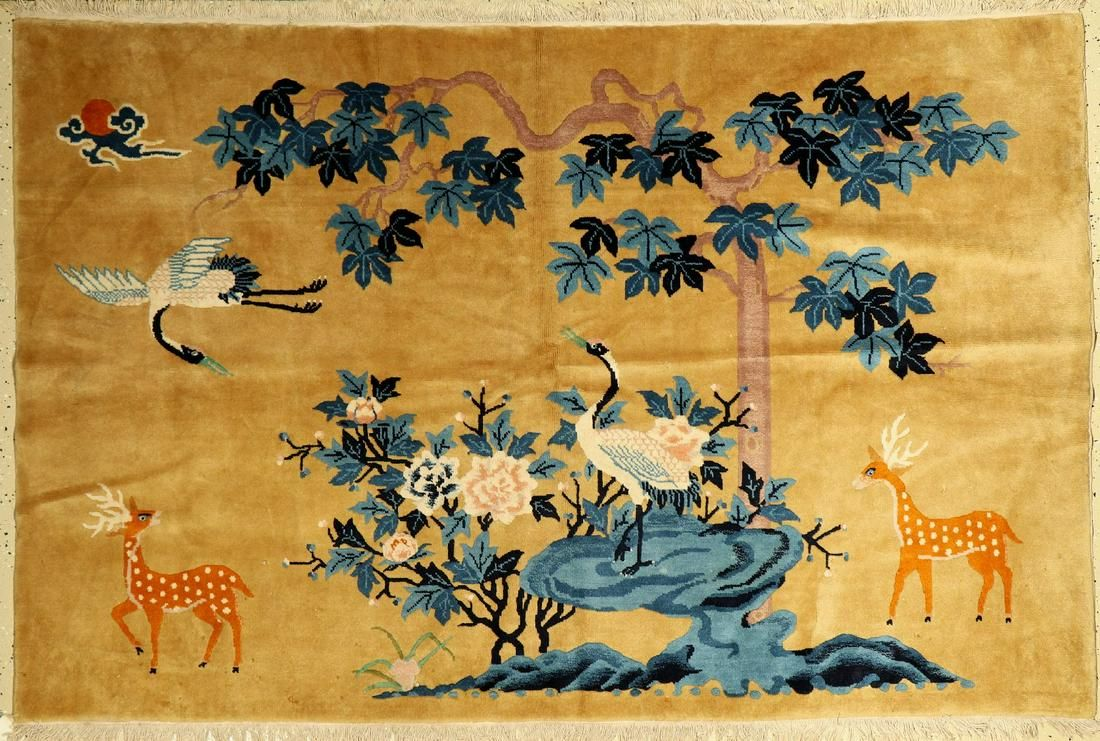 China Rug, approx. 40 years, wool on cotton, approx.