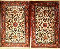 1 pair of old Nadjafabad Rugs Persia around 1950