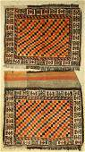 Gabbeh 2x mafrash pages, Persia, wool on wool,