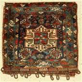 Khamseh bag, Persia, late 19th century, wool on wool