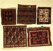 (5 lots), Persia, around 1900 to 1940, wool on wool